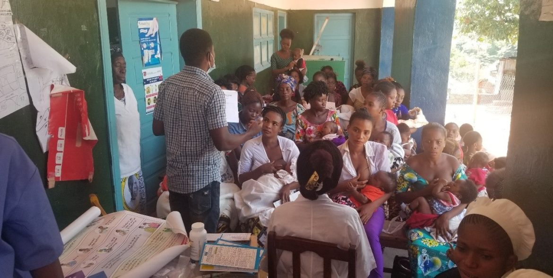 Des femmes enceintes sensibilisées au respect des règles barrières contre la Covid-19 dans la province de Tanganyika en R.D. Congo