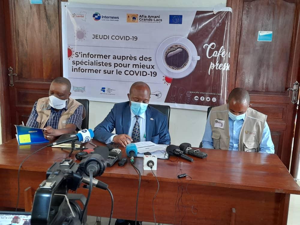 Nord-Kivu : Les journalistes reçoivent des réponses à leurs questions sur la vaccination contre la Covid-19 en Province