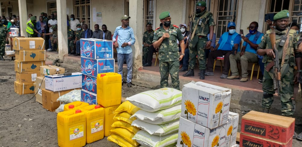 #InfoNyiragongo2021 : début d'assistance aux déplacés de l'éruption du Nyiragongo au Nord Kivu