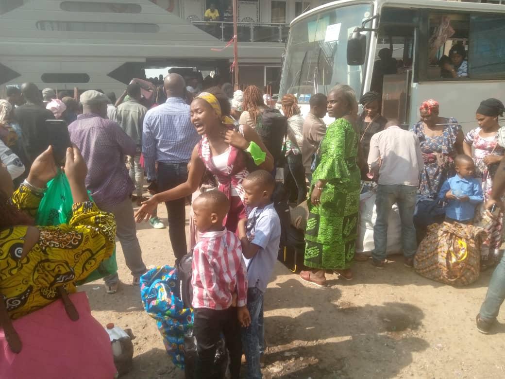 Mercredi 26 Mai, 17h05 Goma #InfoNyiragongo2021: La ville de Bukavu accueille plusieurs déplacés de l'éruption de Nyiragongo