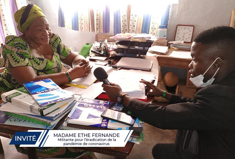 Madame Ethe FERNANDE raconte son combat contre la pandémie de coronavirus dans la province du Tanganyika